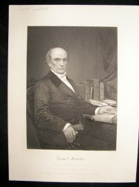 Daniel Webster 1873 Antique Portrait Print